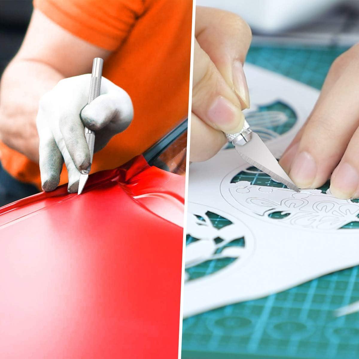2 PCS Cuchillo para Trabajos Artesanales para Escultura Trabajos Art/ísticos Arte DIY Contiene 60 Cuchillas de Repuesto flintronic/® Herramientas de Talla