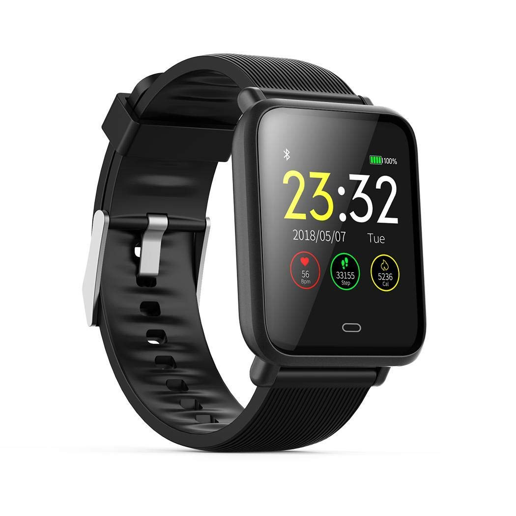 adolenb Fitness Tracker Q9 Multinacional Voz GPS Operación Smartwatch Impermeable IP67 Bluetooth Smartwatch para Android y iOS Smartphone