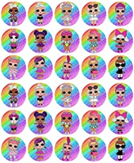 Precut Option 24 Edible LOL Surpise Dolls Cupcake Fairy Cake Decoration Toppers