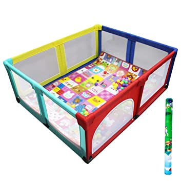 Amazon Com Playpen Play Yard Toddler Bed Safety Fence Baby Playpen