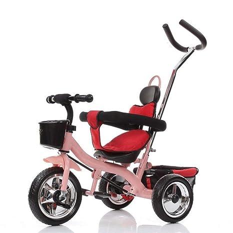 Triciclo para niños Bicicleta 2-6 años Carro grande 1-3 Semanas Cochecito para