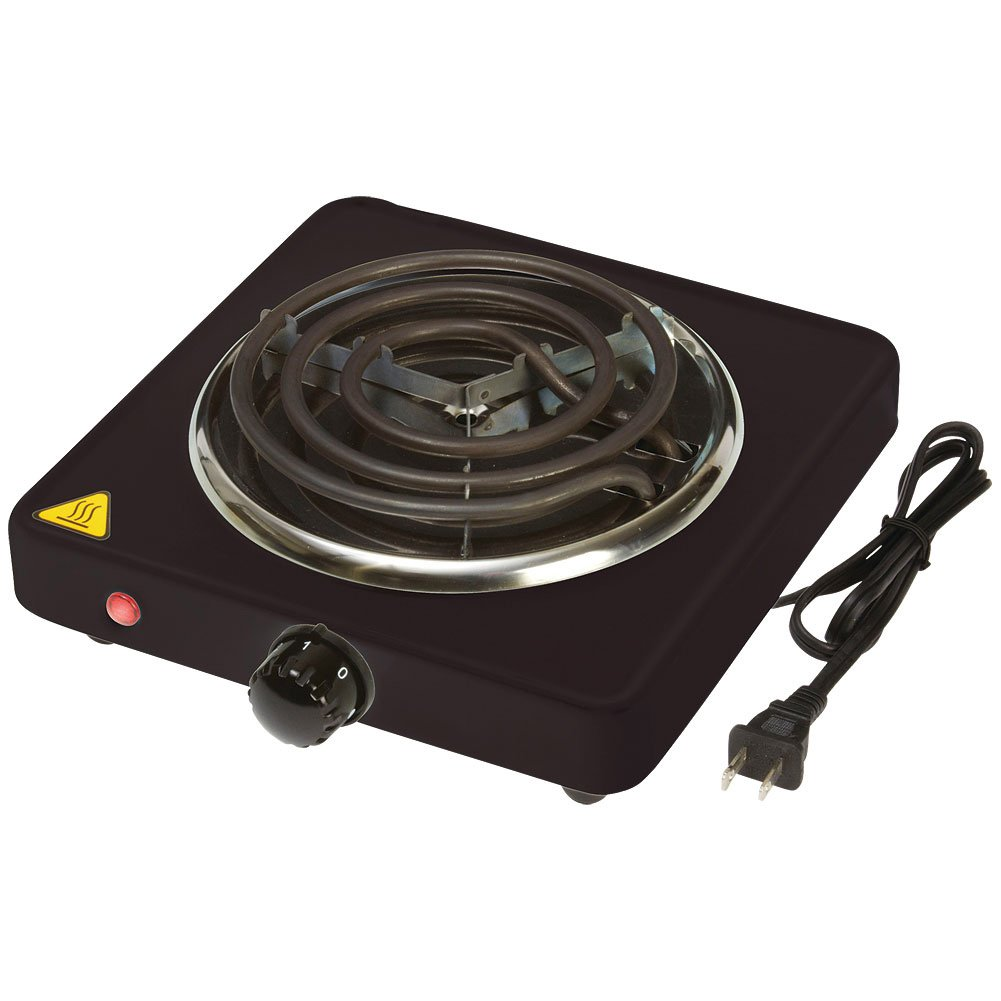 Single Burner Hot Plate - Stainless Steel Construction - Adjustable Controls