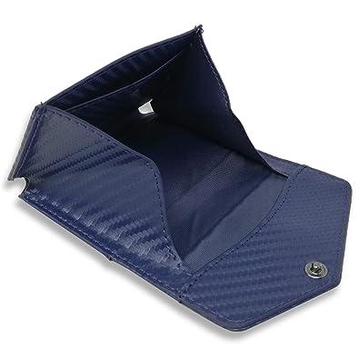 0f052283f567 BLUE SINCERE 小銭入れ コインケース メンズ ボックス型 革 スマート CC2cn(カーボンレザー ネイビー