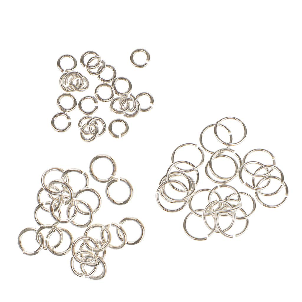 Baoblaze 60 Pieces 3mm /& 4mm /& 6mm 925 Sterling Silver Open Jump Rings Split Rings DIY Jewelry Making Findings fit Necklace Bracelet Chokers Charms Pendant