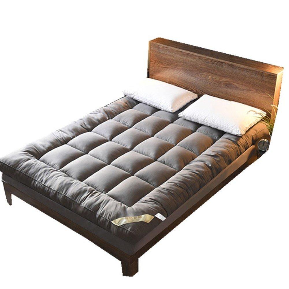 HYXL Foldable Thicken Floor mats Mattress,Anti-slip folding mat Down cotton Mattress Bed Tweezers Tatami bed pad Folding pad-A 150x200cm(59x79inch)