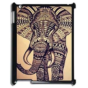 LZHCASE Diy Cover Custom Case Elephant Aztec Tribal For IPad 2,3,4 [Pattern-1]