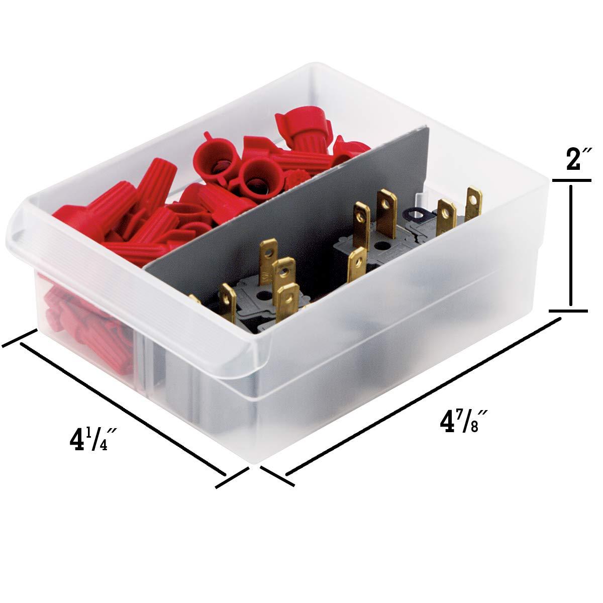 Akro-Mils 10124 24 Drawer Plastic Parts Storage Hardware and Craft Cabinet 20-Inch x 16-Inch x 6.5-Inch Black
