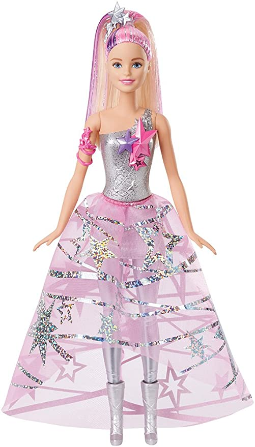 Amazon.com: Barbie Star Light Adventure Gown Doll: Toys & Games