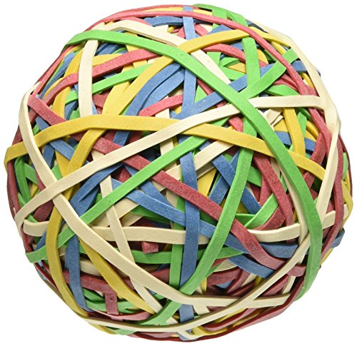 ACCO Rubber Band Ball, 275 Bands per Ball, Assorted Colors (A7072153) Acco Rubber Band Ball