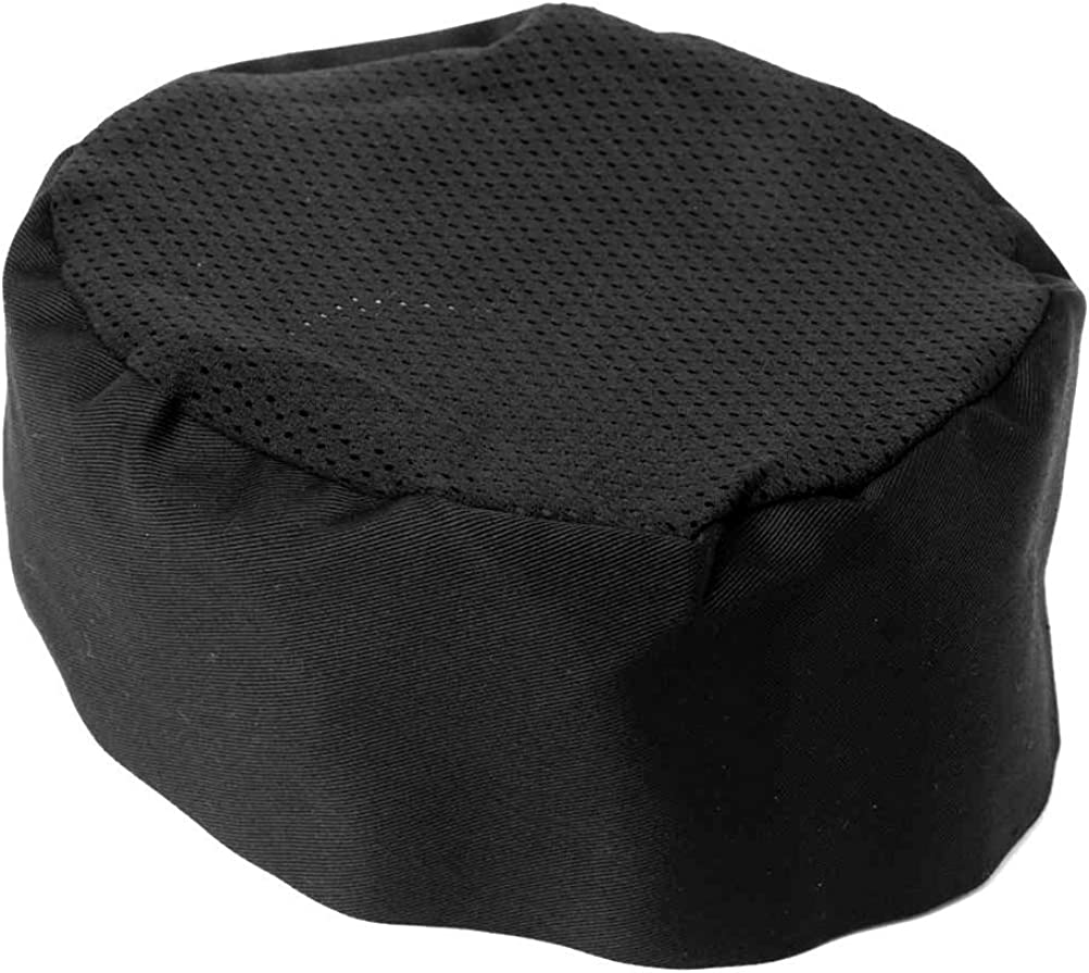 Chefs Hat Breathable Mesh Top Skull Cap Adjustable