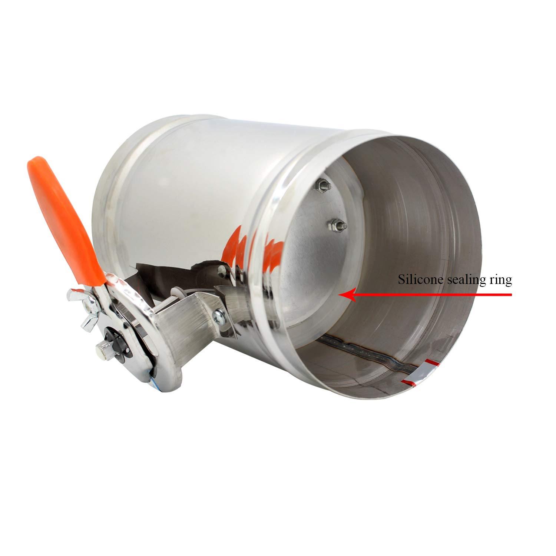 1 pezzo HVAC serranda taratura aria per condotti aerazione aria 1 pezzo diametro 80 100 125 150 200 250 300 250 400 mm Diametro 125mm