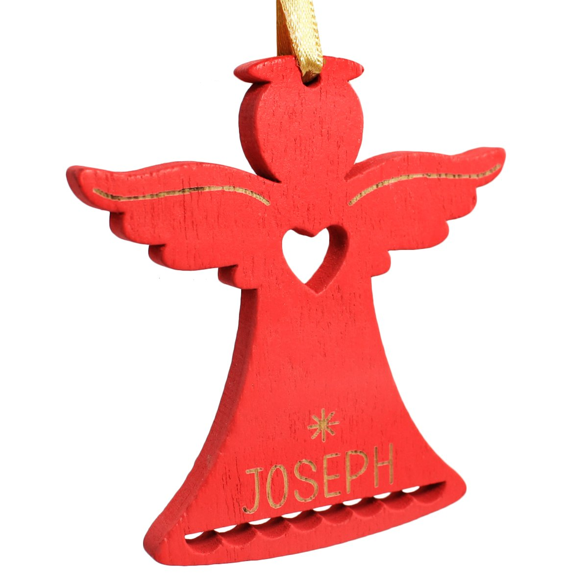 Ganz Personalized Mini Woodstock Red Angel Christmas Ornament; Joseph