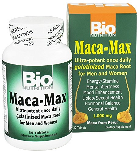 Bio Nutrition – Maca Max (30 Tablets), (4 Pack) For Sale
