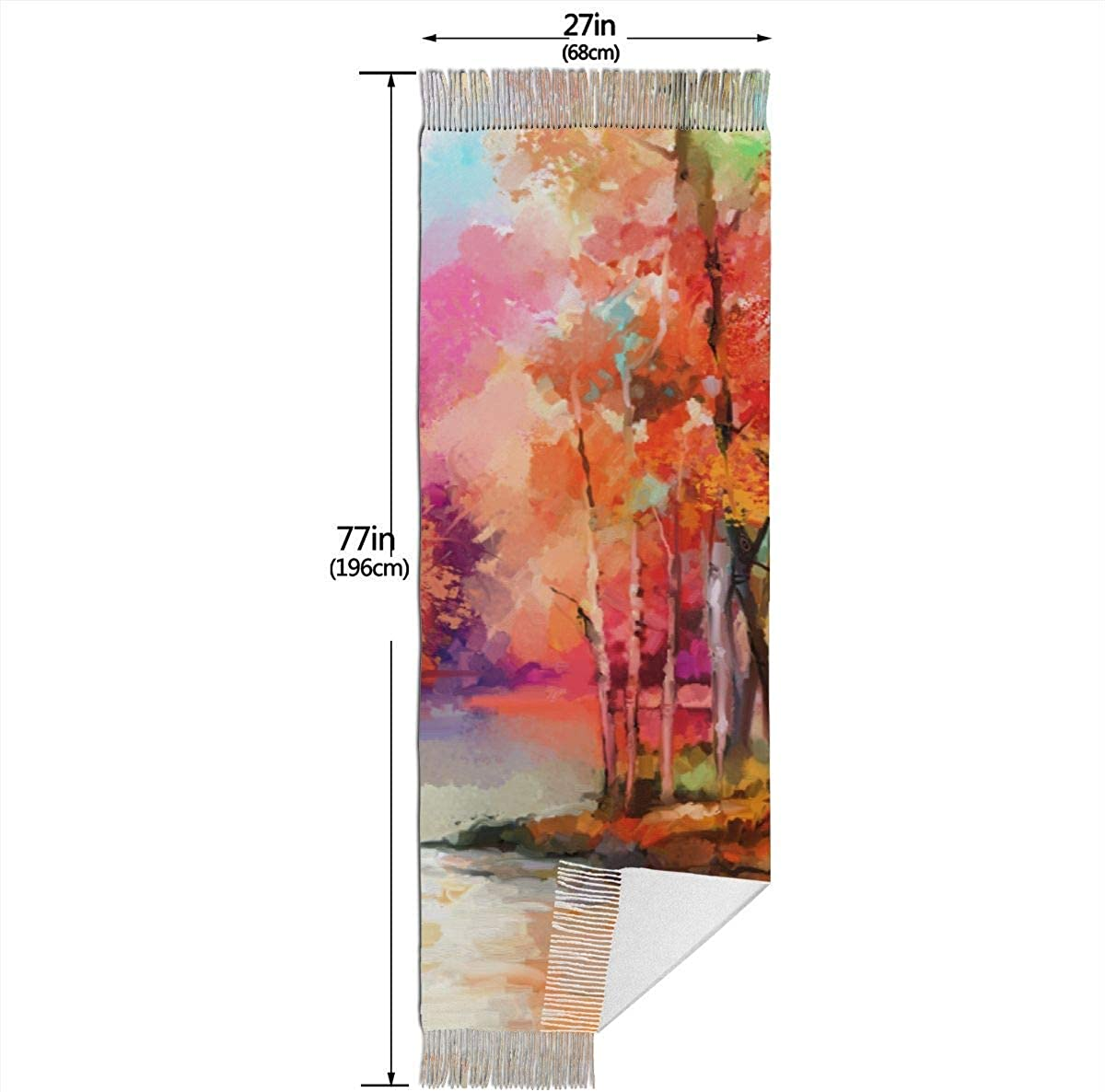 Colorful Autumn Trees 1141890566 Womens Cold Weather Scarves Wraps Fashion Scarves Christmas Gift for Mother Girlfriend Sister