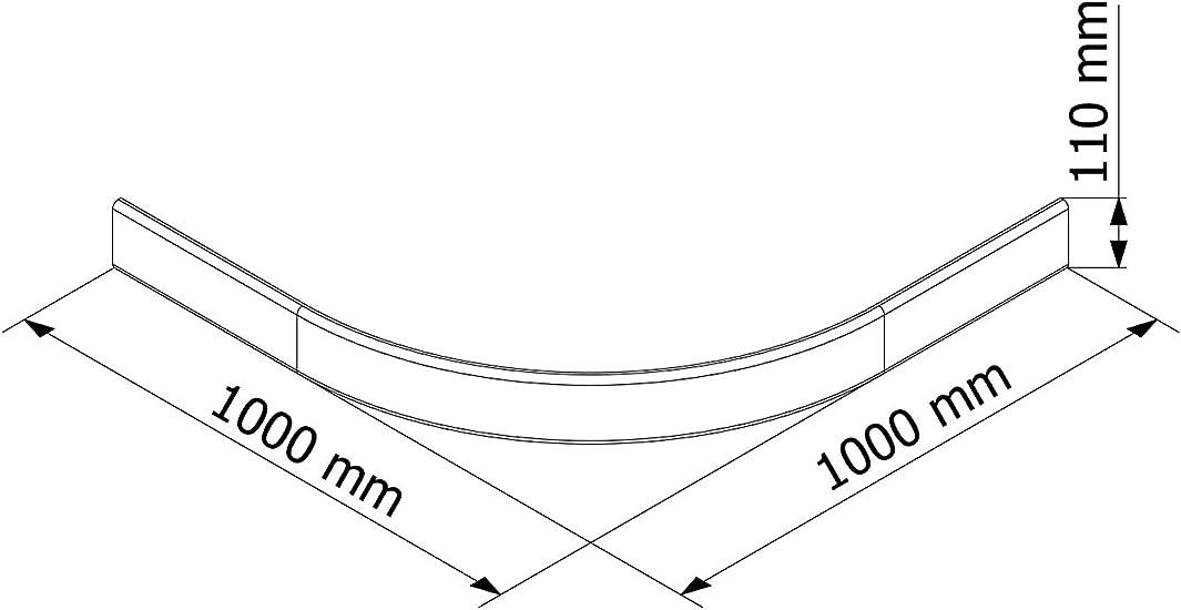 Schulte Delantal para ducha Platillos extra plano 100 x 100 cm sanitaria de acrílico Radius 550 Catania, 1 pieza, color blanco, 4056397003076: Amazon.es: Bricolaje y herramientas