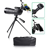 Spotting Scope, 20-60X 75mm Zoom, Bird Watching with Broad Horizon, Multilayer Coating Optical Lens, Perfectly for Observing Birds, Animals and Outdoor Activities