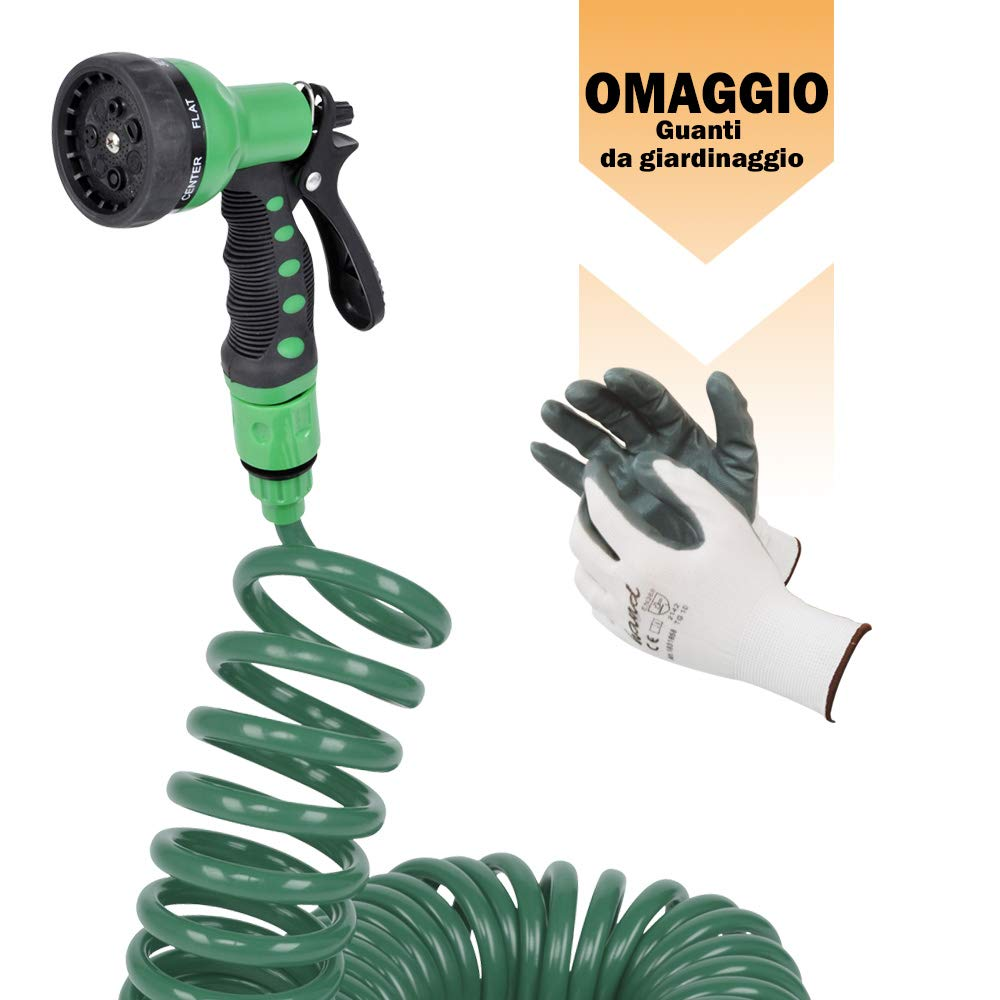 Tubi kit starter irrigo iris kit per irrigazione tubo 15 mt pistola