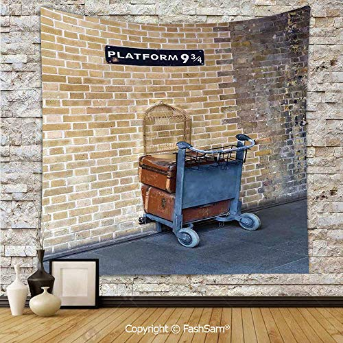 FashSam Tapestry Wall Blanket Wall Decor Secret Way to The Train to Magical World Kings Cross Station Famous Landmark Picture Home Decorations for Bedroom(W39xL59) ()