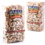 DeLallo Organic Whole Wheat Shells #91, 16-Ounce Units (Pack of 16