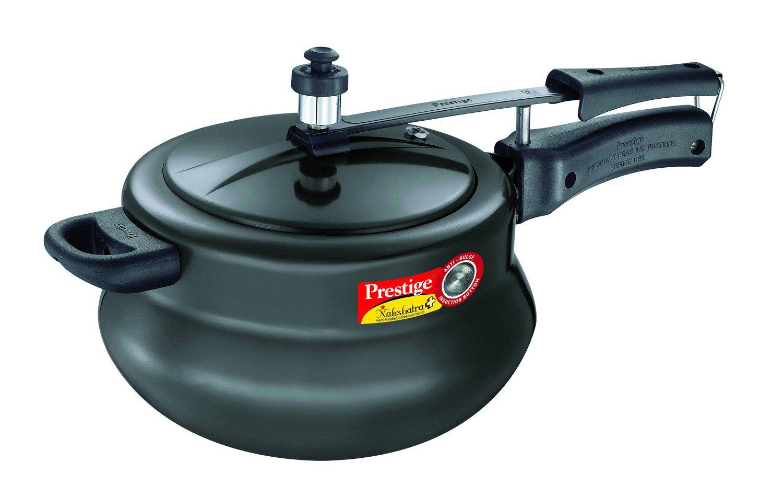 Prestige Nakshatra Plus Hard Anodised Aluminium Pressure Handi, 5 litres, Black product image