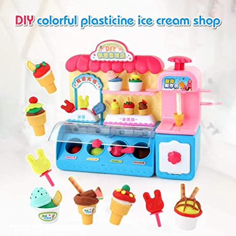 Samubo 3D - Set de heladera para niños con barro de color, juguete para niños