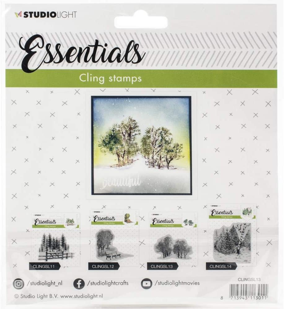 Studio Light Essentials Cling Stamps Holly, 4 x 5
