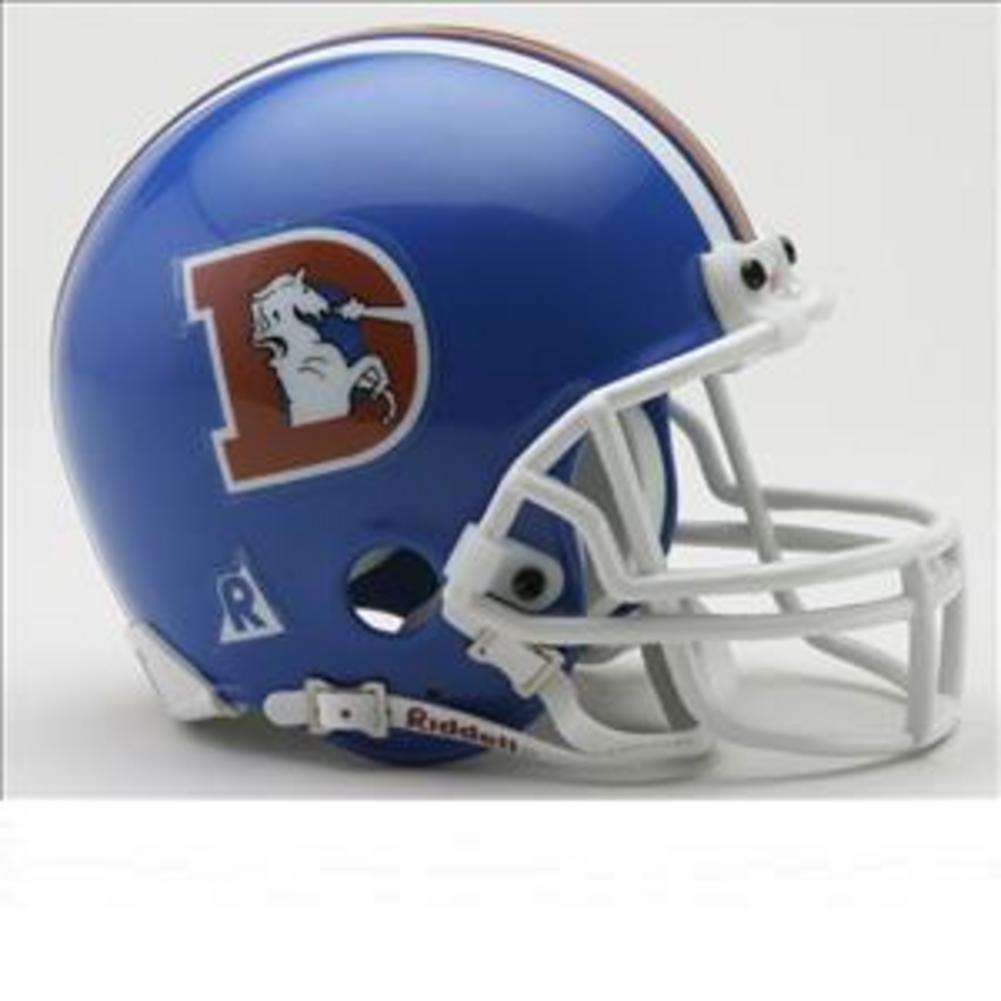 NFL Riddellデンバーブロンコス1975 – 1996 Throwback Miniレプリカヘルメット   B001ROTRNY