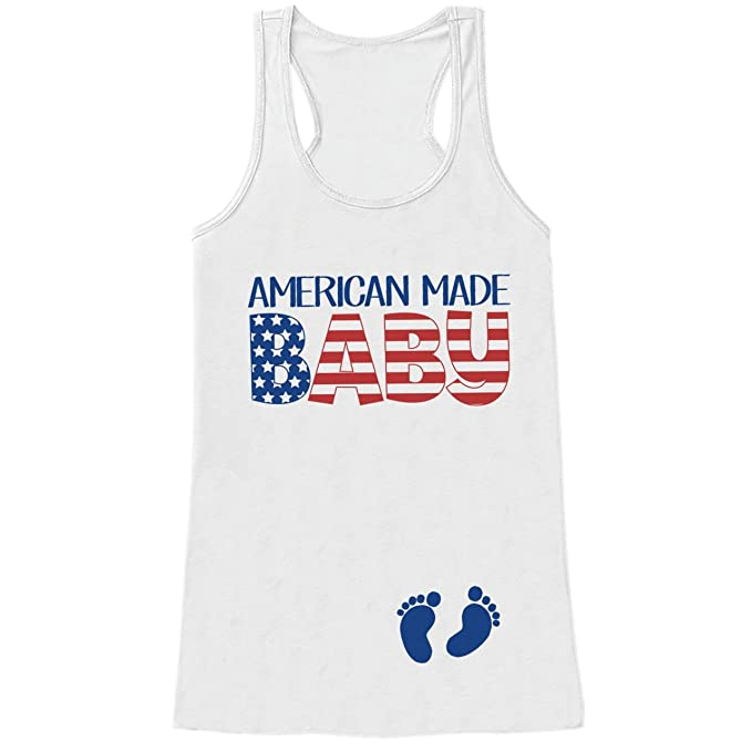 adad46dea Custom Party Shop Women's American Made Baby 4th of July White Tank Top  Small