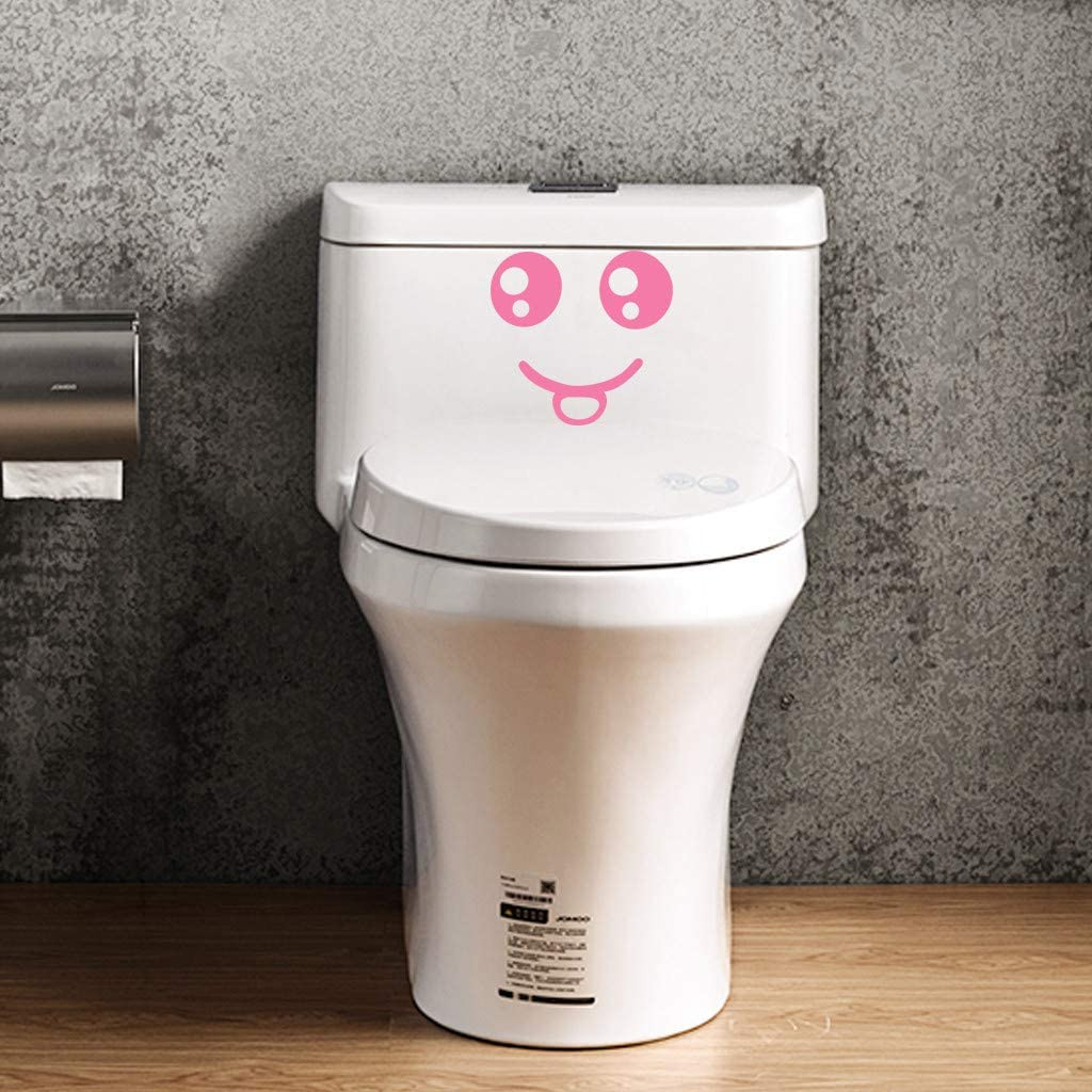 Ywoow Wall Sticker Lovely Smiling Face Free Decoration Fashion Bedroom Home Toilet Toilet Stickers Bathroom Toilet Wall Sticker Sale Easter Patricks Day Gift