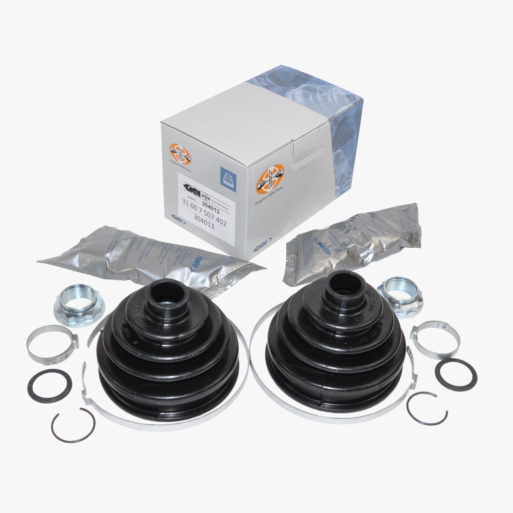 BMW Axle CV Joint Outer Boot Kit Front GKN Lobro OEM 31607507402 (2pcs)