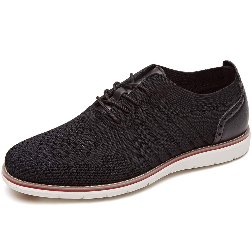 LAOKS Mens Mesh Sneakers, Lightweight Breathable Walking Shoes, Black, Size 10.5 US by LAOKS
