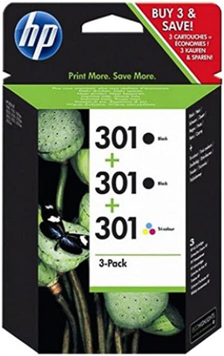 Hp Original Hp Hewlett Packard Officejet 4634 301 E5y87ee 3 X Druckkopf Multipack Black Black Color Bürobedarf Schreibwaren