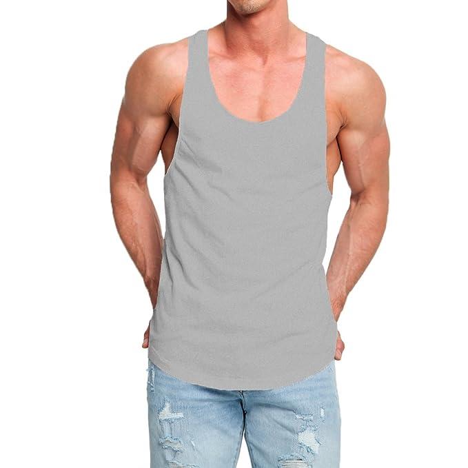a9cf85ba705c Amazon.com  OA ONRUSH AESTHETICS Men s Fashion Longline Tank Tops ...