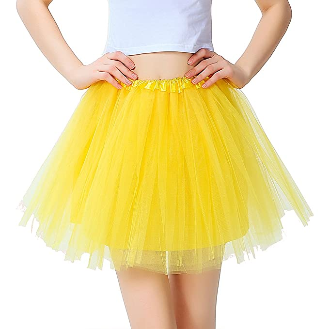 InnoBase Tutu Falda de Mujer Falda de Tul 50s Short Ballet 3 Capas Accesorios de Vestimenta