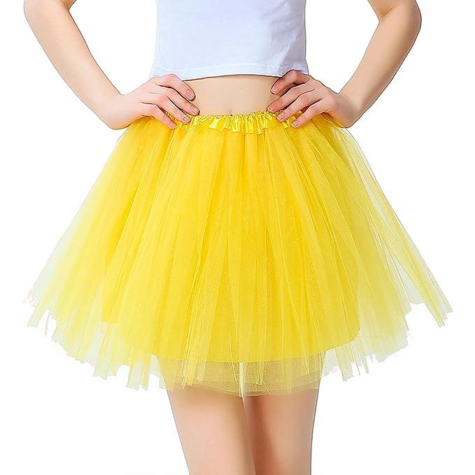750e771c52a InnoBase Tutu Falda de Mujer Falda de Tul 50 s Short Ballet 3 Capas  Accesorios de Vestimenta