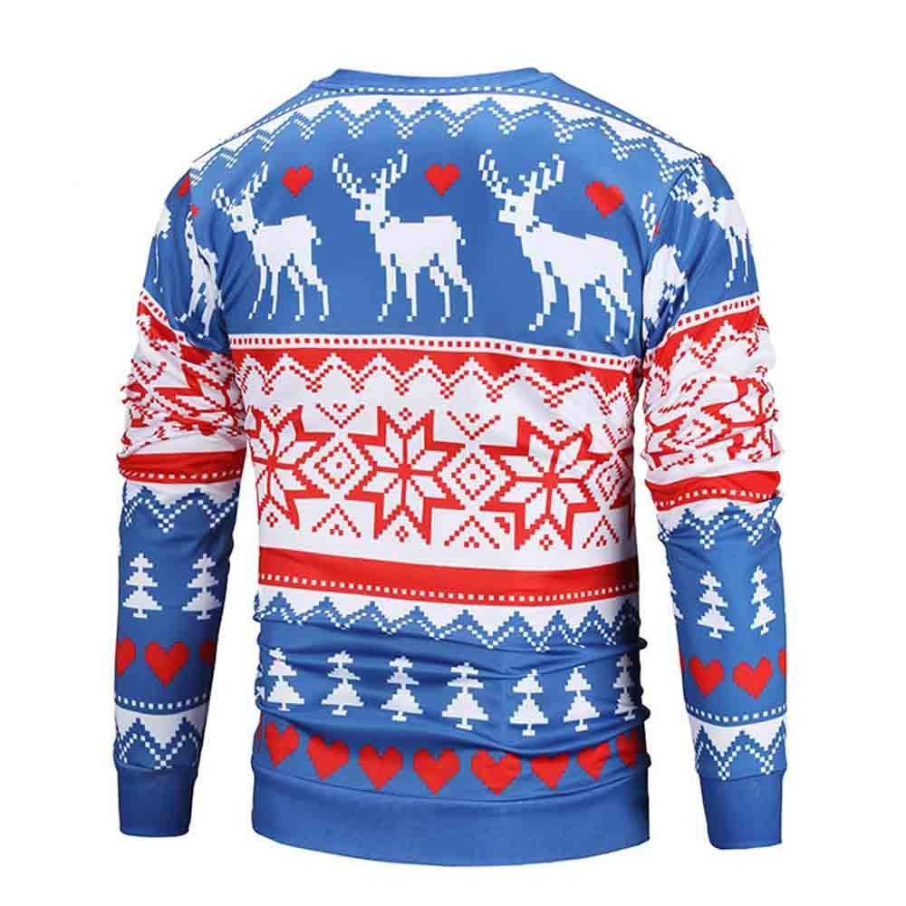Herbst Winter Mode Weihnachten Gedruckt Langarm Liebhaber Paar Pullover Tops