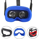 Esimen VR Silicone Face Cover for Oculus Quest Face Cushion Pad Cover Sweatproof Lightproof (Blue)