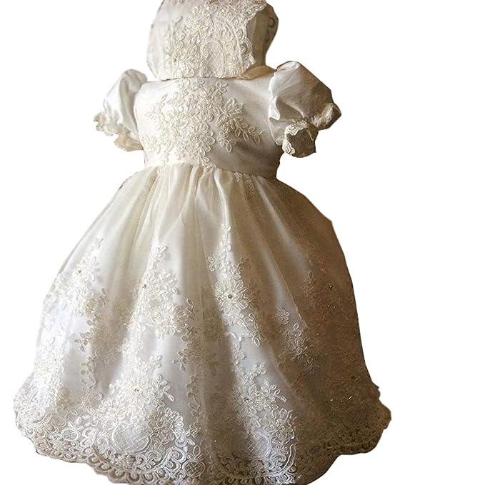 Amazon.com: Kelaixiang - Vestido de bautizo para bebé, color ...