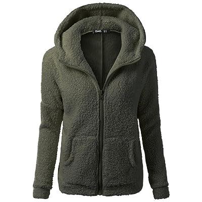 Long Sleeve Jacket, Zulmaliu Thin Hooded Zipper Pocket Cotton Overcoat Casual Winter Women's Ladies Warm Outwear