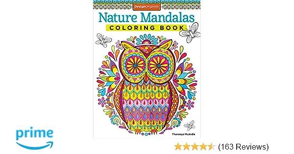 Nature Mandalas Coloring Book Design Originals Thaneeya McArdle 9781574219579 Amazon Books