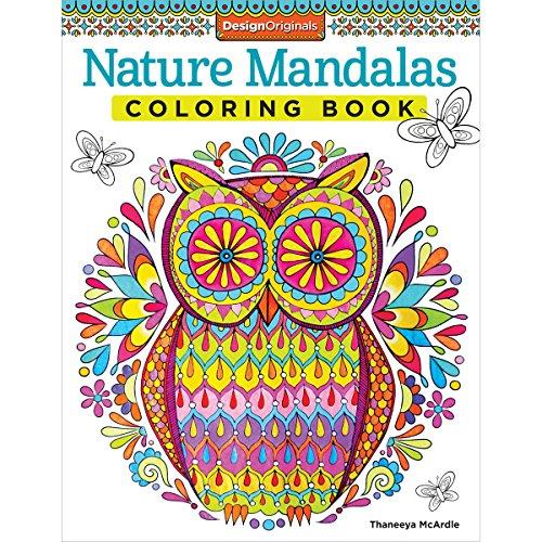 Nature Mandalas Coloring Book -