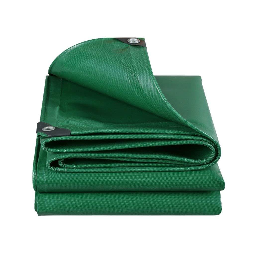 MEIDI Home Außenzelt Plane gepolsterte regendichte Sonnencreme LKW Plane Schutzhülle aus Stoff Isolation verschleißfest grün (Farbe   A, Größe   3  6)