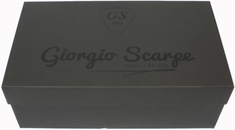 Giorgio Scarpe 13114 Derby Chaussures en cuir cousus semelle en cuir noir//whisky