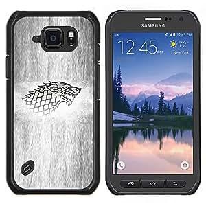 LECELL--Funda protectora / Cubierta / Piel For Samsung Galaxy S6Active Active G890A -- Lobo Sigil --