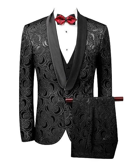 Amazon.com: Conjunto de chaleco para hombre, diseño floral ...