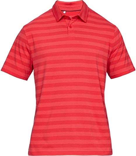 Under Armour Mens Charged Cotton Scramble Stripe Polo