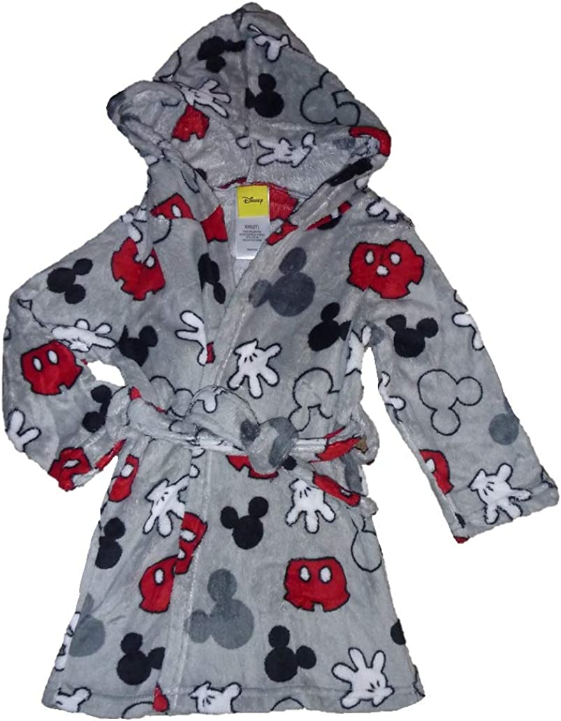 Toddler /& Little Boys Mickey Mouse Hooded Robe /& Pajamas Set