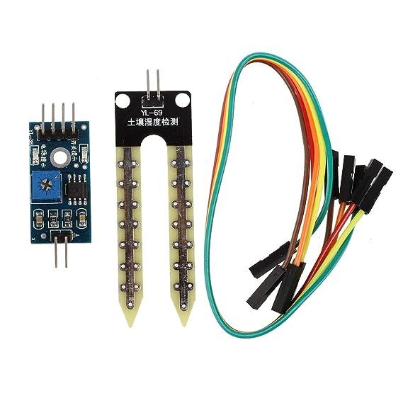 REFURBISHHOUSE Suelo higrometro Deteccion de Humedad Modulo Sensor de Humedad Prueba de Arduino PI: Amazon.es: Hogar