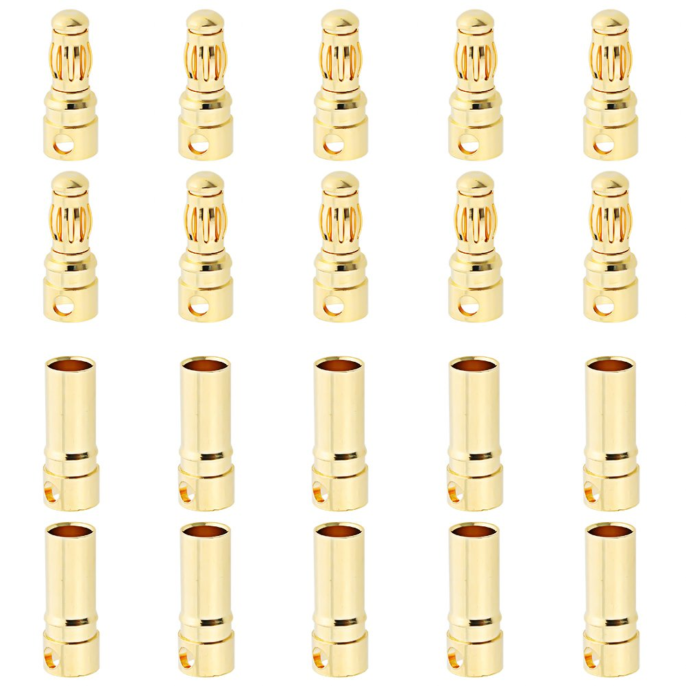 Hobbypark 10 Sets Female Male 3.5mm Gold Bullet Banana Connectors RC ESC LIPO Battery Device Electric Motor Wire Parts