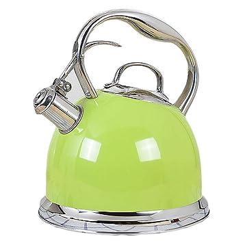 LiTing Kettle Caldera Estufa de Gas de Cocina de inducción de la Cocina de inducción de Gas de Acero Inoxidable 304 con Botella de Agua Caliente (Color ...